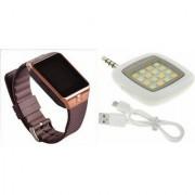 Zemini DZ09 Smart Watch and Mobile Flash for PANASONIC ELUGA SWITCH(DZ09 Smart Watch With 4G Sim Card Memory Card| Mobile Flash Selfie Flash)