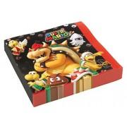 amscan Super Mario SERVETTEN 20ST V