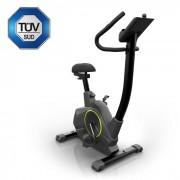Klarfit Epsylon Cycle motionscykel, 12 kg tröghet, remdrift, svart