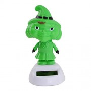 Green Face Witch for Halloween COLLECTION - Solar Powered Toy