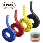 Building Block Tape for Lego Bricks,4 Rolls 4 Colors Adhesive Sticky Flexible Silicone Non Toxic Safe Tapes Compatible for All Lego Collections (red+yellow+blue+black)