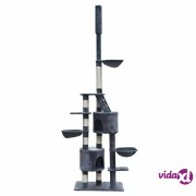 vidaXL Penjalica/ grebalica za mačke, plišana, siva, 230-260 cm