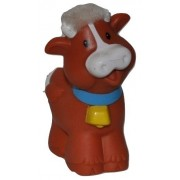 Little People Touch N Feel Cow (2005) - Replacement Figure Accessory - Classic Fisher Price Collectible Figures - Loose Out Of Package & Print (OOP) - Zoo Circus Ark Pet Castle