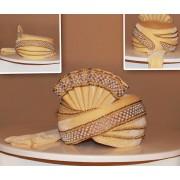 Designer Cream Velvet Groom Turban - 72510