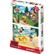 Puzzle 2 in 1 Mickey si prietenii - Ora de sport 66 piese