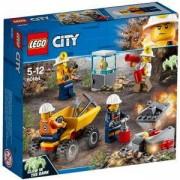 Конструктор ЛЕГО СИТИ - Миньорски екип, LEGO City Mining, 60184