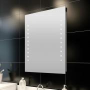 vidaXL Стенно огледало за баня със LED светлини, 60 x 80 см (Д х В)