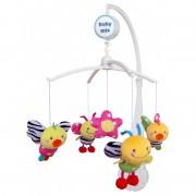 Baby Mix méhecskés zenélő-forgó játék plüss figurákkal kiságyra