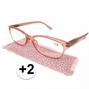 Merkloos Modieuze leesbril +2 glitter roze - Action products