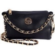 Lino Perros Women Casual Black Leatherette Sling Bag