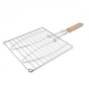 ELECTROPRIME® Barbecue Grilling Basket Grill BBQ Net Roast Folder Barbecue Clip Silver