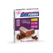 Nutrition & Sante' Italia Spa Pesoforma Barrette Al Cioccolato Al Latte 6 Pasti 12 Pezzi