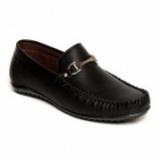 Verdioz mens buckle loafer Loafers For Men(Black)