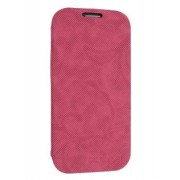 Premium Book-Style Slim Flip Cover for Samsung I9300 Galaxy S3 - Samsung Leather Wallet Case (Hot Pink)