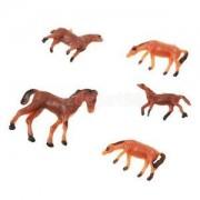 Alcoa Prime 5PCS Sand Table Mixed Farm Animals Small Horse Mold Sandbox Game Toy Model