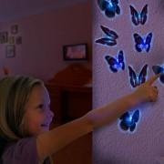 Fluture LED cu Ventuza
