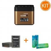 Kit Hahnel Pro Cube 2 Incarcator pentru Olympus + Acumulator Dedicat tip BLN-1+ Set 4 Acumulatori AAA 2500mAh