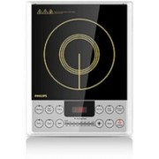Philips 4929 Induction Cooktop with Cool - To - touch glass panel Induction Cooktop(Silver, Black, Jog Dial)