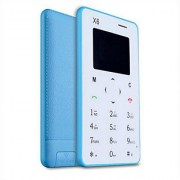AIEK X6 (Blue) Credit card ultra slim GSM mobile phone