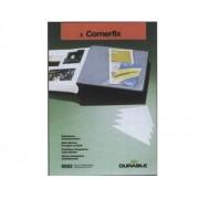 BUZUNAR AUTOADEZIV PVC CORNERFIX 75x125 mm, 8 buc/set, DURABLE