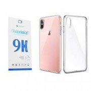 Set Premium Husa Esr Essential Transparenta Si Folie Nano Glass Ultra Rezistenta iPhone Xs Max
