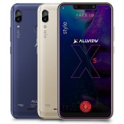 "Smartphone Allview Soul X5 Style, Procesor Octa-core, 2GHz/1.5Ghz, IPS LCD Capacitive touchscreen 6.2"", 3GB RAM, 32GB FLASH, Camera Duala 13MP + 2MP, Wi-Fi, 4G, Dual Sim, Android (Albastru) + Cartela SIM Orange PrePay, 6 euro credit, 6 GB internet 4G, 2,0"