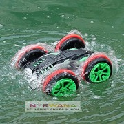 Nyrwana Water Driving Remote Control Multi Color Car, with 360 ° Stunt Flip Drive on Water, Sand, Land