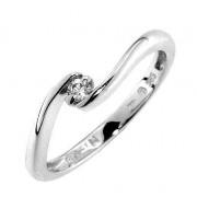 Prsten s diamantem, bílé zlato 386-0019, Gems Kornel z bílého zlata