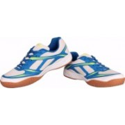 Nivia White Blue Super Court Badminton Shoes For Men(White)