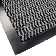 Bílo-modrá textilní vstupní vnitřní čistící rohož - délka 150 cm, šířka 90 cm a výška 0,7 cm