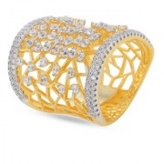 Tistabene Retails Contemporary Designer American Diamond Stylish Party Wear Cocktail Ring For Women And Girls (RI-0487)