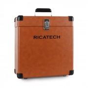 Ricatech RC0042, valiză pentru discuri de vinil, maro (659009)