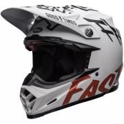 BELL Casque Bell Moto-9 Flex Fasthouse WRWF Blanc Rouge Noir