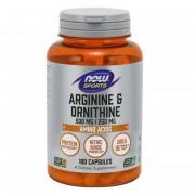Now Foods L-Arginin a L-Ornithin 100 kapslí - 100 kapslí