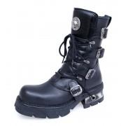 bőr csizma - Classic Boots (373-S1) Black - NEW ROCK - M.373-S1