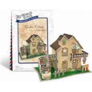 Puzzle 3D - Casa cu gradina - 36 piese