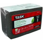 Task Tools SP64256 Bloques de lija ecológicos sin disolventes, grano 60/100, paquete de 6