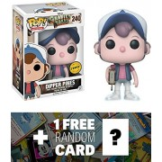 Dipper Pines (Chase Edition): Funko POP! Animation x Gravity Falls Vinyl Figure + 1 FREE Classic Disney Trading Card Bundle (12373)