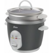 Oster CKSTRC4722049 Electric Rice Cooker with Steaming Feature(1 L, Grey and Silver)