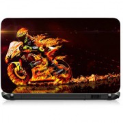 VI Collections Fire Racer Printed Vinyl Laptop Decal 15.5
