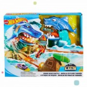 Jucarie Pista Hot Wheels Batalia rechinului Shark Beach Battle FNB21 Mattel