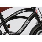 Bicicleta Volare Black Cruiser pentru baieti 12 inch cu roti ajutatoare
