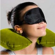 Sphiron Travel Freak Smart Travel Essentials Neck Pillow & Eye Shade(Yellow, Black)