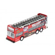 Las Vegas 6' Double Decker Sightseeing Bus Open Top, Red - 2168DLV - Collectible Model Toy Car