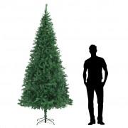 vidaXL Изкуствено коледно дърво, 300 см, зелено