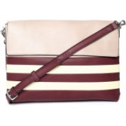 Parfois 131931BU_M Maroon, Beige Shoulder Bag