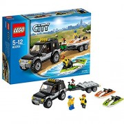 Lego City Great Vehicles SUV with Watercraft, Multi Color