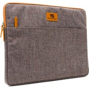 """Tech Supplies - MTSA15BR Sleeve voor 15 Inch Laptop, geschikt voor de Apple Macbook Air / Pro of andere laptops van 15.6"""" Fluweel zacht van binnen Bescherming Cover Hoes Case Bruin"""
