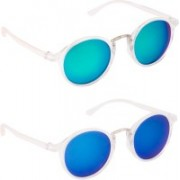 TheWhoop Oval Sunglasses(Green, Blue)
