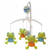 Carusel Muzical Pentru Patut Calm Baby - Sweet Frogs